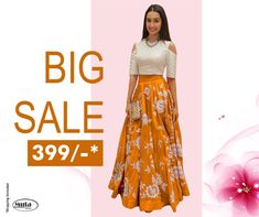 RESTOCKED On Popular Demand!. Get this Gown at only Rs 399/- only on www.mutafashion.com Lehenga, Saree, Shop Till You Drop, Silk Gown, Secondary Color, Fabric Shop, Formal Wear, Style Icons, Trendy Outfits