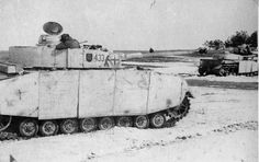 Panzer 4 Ausf H tanks operating with the 35th Panzer Regiment of the 4th Panzer Division