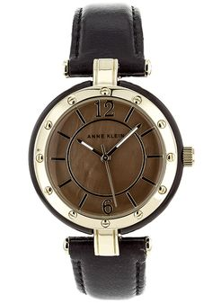 Price:$64.13 #watches Anne Klein 10-9994GMBN, Stainless steel case, Leather strap, Brown dial, Quartz movement, Scratch-resistant mineral, Water resistant up to 3 ATM - 30 meters - 100 feet Beyond The Rack, Anne Klein, Stainless Steel Case, Michael Kors Watch, Quartz, Mineral Water, Watches, Brown, Leather