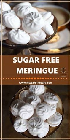 Those Sugar-Free Meringue Cookies are a perfect combination of Swiss and Italian Meringues but as a healthier alternative. Those Sugar-Free Meringue Cookies are a perfect combination of Swiss and Italian Meringues but as a healthier alternative. Sugar Free Meringue Cookies Recipe, Chocolate Chip Shortbread Cookies, Sugar Free Desserts, Sugar Free Recipes, Keto Cookies, Cookie Recipes, Dessert Recipes, Brownie Recipes, Sugar Free Cakes