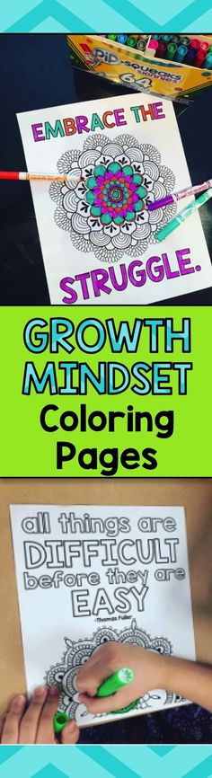 Growth Mindset Coloring Pages health coping skills health ideas health posters health promotion health tips Social Emotional Learning, Social Skills, Coping Skills, Growth Mindset Posters, Leader In Me, School Social Work, The Embrace, Beginning Of School, Middle School