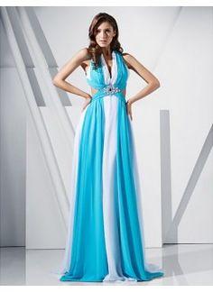 ad66968ce369 Charming Sheath/ Column V-neck Sweep/ Brush Train Chiffon Evening Dress  Ball Dresses