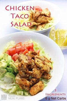 Low carb diabetic meal: Chicken Taco Salad