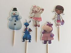 Fun Doc McStuffin Cupcake Toppers by DianasDen on Etsy