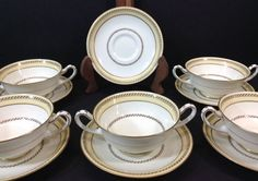Vintage Royal Doulton England The Sterling Soup Bowl Cups Saucers Dinnerware | eBay