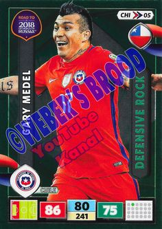 CHI05. Gary Medel (Chile) - Defensive Rock Panini Road to 2018 FIFA World Cup Russia Adrenalyn XL