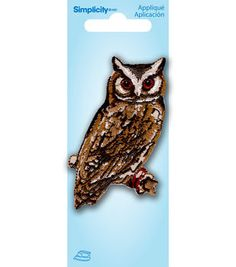 Owl On Branch Applique