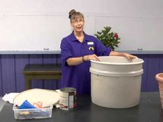 When planters are set outside in the sun and wind, you may have to water them several times a day just to keep the plants alive.  However, by using self-watering pots, you can grow lush, vibrant plants with a lot less watering.  This segment shows step-by-step instructions on how to make your own self-watering pot.  Produced by the Department of...