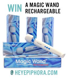 Five lucky winners will get orgasms delivered straight to their doors in the form of the Hitachi Magic Wand Rechargeable, one of the strongest vibrators on earth! Yarn Projects, Projects To Try, Contests Canada, Things I Need To Buy, Magic Wands, White Things, Toy Boxes, Have Some Fun, Potpourri