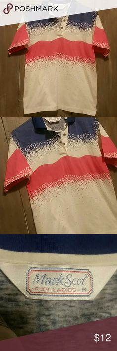 💜💙💚 Buy One Get One FREE 💜💙💚 Women's red white & blue top, like new condition   💜💙💚 Buy One Get One FREE 💜💙💚  💙 Bigger Bundles Save More!!! 💙 💜 10% off 2 or more... 💙 15% off 3 or more...   💚 20% of 4 or more... 💜 25% off 5 or more!! Mark Scot Tops
