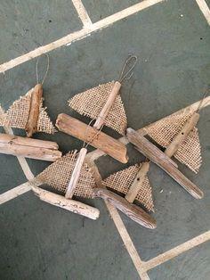 Driftwood Sailboat Ornament
