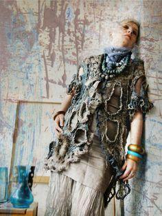 Conceptual extravagant designer statement tunic - a contemporary interpretation of mythological legends like those around Neptune