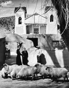 Santuario de Chimayo, New Mexico  Photographer: Emmett P. Haddon Date: 1958 Negative Number 151988 via Palace of the Governors Photo Archives FB