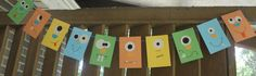 Monster Party Banner Bunting by PartyPossible on Etsy