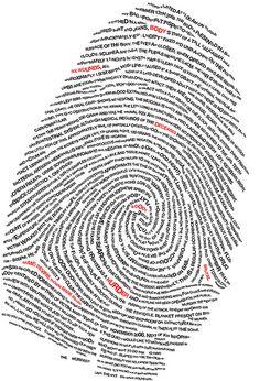 Deca Magazine Fingerprint by Stephen Banks, via Behance Typographic Poster, Typography Art, Lettering, Typography Inspiration, Logo Design Inspiration, Art Plastic, Pochette Cd, Poetry Projects, Fingerprint Art