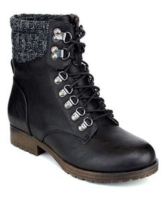 Look what I found on #zulily! Black Wynne Boot #zulilyfinds