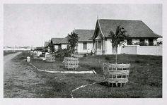 De woningen op Pasir Kaliki Bandoeng circa 1920.