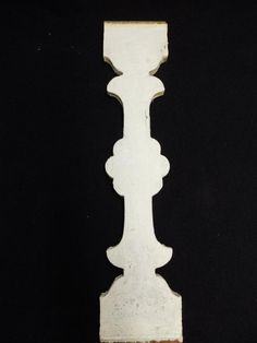 1 Antique Shabby Flat Wood Porch Baluster Decorative Chic Gingerbread 3300-14