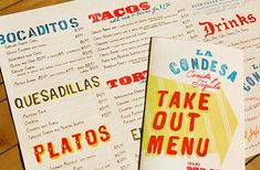 Mucca Design-----takeout menu