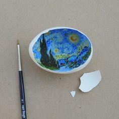 Classical Egg Shell Art : egg shell art