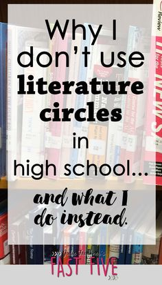 I remember Lit Circles in the 8th grade &, like most group work, some kids did the work & some did not.  So this article helps address some of the problems with Lit Circles, without throwing the baby out with the bathwater.