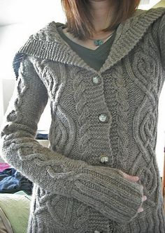 Knitted Bliss: Modification Monday: DROPS-Durrow-Nubby Cardigan