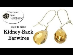 How to Make Kidney Back Earwires - YouTube