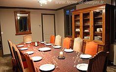 gite a la ferme de fourges pour vos vacances en normandie à 10 km de la seine avec une grande salle à manger