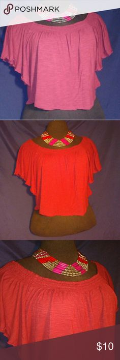 American Rag City Shawl Cropped Top Rust Color American Rag City Shawl Cropped Top sz M Rust Color American Rag Tops Crop Tops