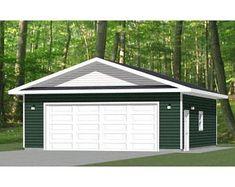 30x26 2-Car Garages 780 sq ft 12ft Walls PDF Floor   Etsy Cabin House Plans, Bedroom House Plans, New House Plans, The Doors, Windows And Doors, Garage Floor Plans, Carport Designs, Large Sheds, Free Shed Plans