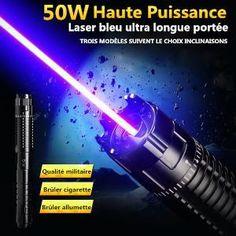 ( http://www.laserpuissant.com/haute-puissance-pointeur-laser-bleu-50000mw.html )   Le Plus Puissant 50000mW Pointeur Laser Bleu
