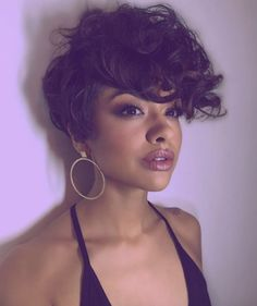 Short Curly Hair, Short Hairstyles For Women, Curly Hair Styles, Natural Hair Styles, Short Haircuts, Undercut Hairstyles, Pixie Hairstyles, Pretty Hairstyles, Curly Undercut