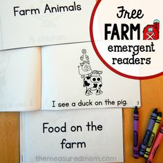 free farm emergent readers square image