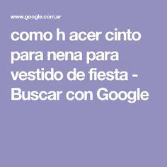 como h acer cinto para nena para vestido de fiesta - Buscar con Google