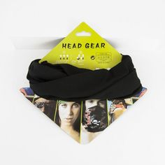 Black Buff Bandana KPB107 Headgear, Bandana, Hats, Black, Fashion, Bandanas, Moda, Hat, Black People