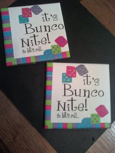 bunco night coasters