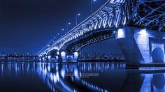 Blue bridge. south korea.