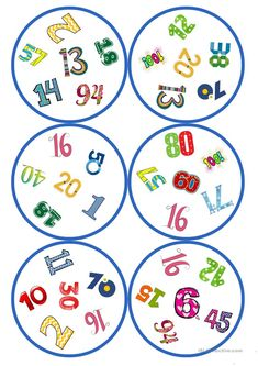 Games in German lessons: Dobble - numbers cards / 6 symbols), English Worksheets For Kids, English Games, English Activities, Preschool Activities, Senses Preschool, Homemade Board Games, Circle Game, English Writing Skills, Puzzles For Kids