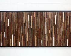 Madera recuperada de la pared arte 37 x 24 x 5 por CarpenterCraig