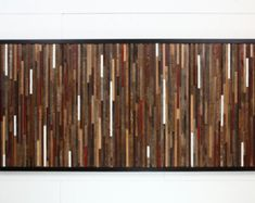 Reclaimed wood wall art 37x24x5 Large art