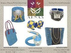 Stingray,Galuchat,AKNAS,Ostrich,Alligator,Python,design,jewellery,fashion.