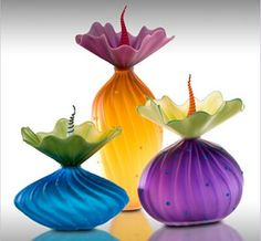 Kliszewski Glass Art~These are so colorful and very unique!  What do you think?  Kathy :) <3
