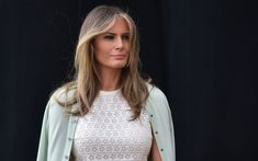 First Lady Melania Trump thanked Chelsea Clinton on Tuesday after the former first daughter launched a plea to the media to keep her son Barron out of negative coverage. First Lady Of America, Mint Cardigan, Chelsea Clinton, First Lady Melania Trump, Trump Melania, First Daughter, Famous Celebrities, Beautiful One, Bbc