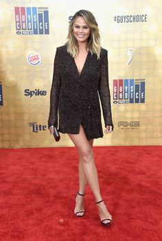 Chrissy Teigen in Dion Lee
