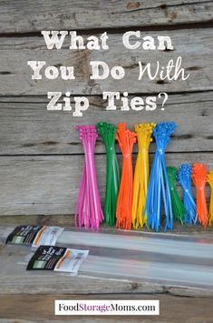 What Can You Do With Zip Ties | via www.foodstoragemoms.com
