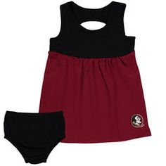 Girls Infant chicka-d Garnet Florida State Seminoles Empire Sundress