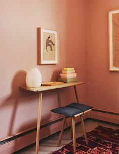 Shop domino for the top brands in home decor and be inspired by celebrity homes and famous interior designers. domino is your guide to living with style. Peach Walls, Pink Walls, Blush Walls, Entryway Storage, Entryway Decor, Entryway Ideas, My Living Room, Home And Living, Chaise Panton