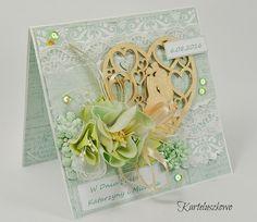 FILIGRANKI: Ślubna kartka w pudełku/ Wedding card in a box