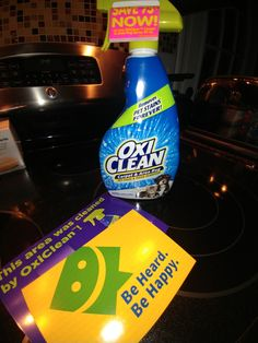 Oxi Clean carpet cleaner. Came in the mail yesterday! #smellsgood #freesamples #smiley360 #oxiclean #firstimpressions #fullsizesamples
