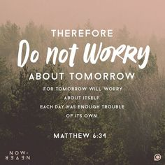 Image result for Matthew 6:34